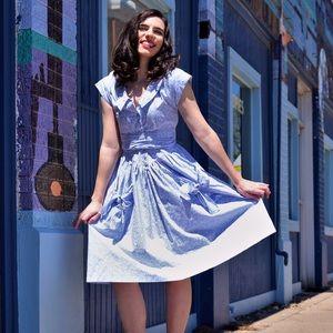 VINTAGE periwinkle blue sailor dress